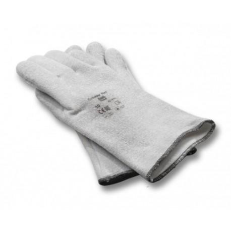 Rękawice żaroodporne z palcami szare