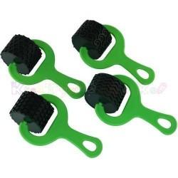 Wałki gumowe do faktur 4 szt - zestaw z zieloną rączką