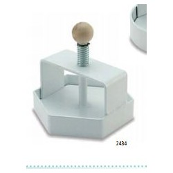 Wyciskarka do kafli sześciokątna 11,4x11,4 cm ze stali nierdzewnej