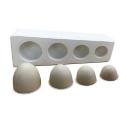 Forma pół jajka do wyklejania 4,5,6 i 8 cm